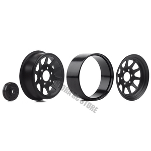 "Image 5 - 4PCS/Set Metal Alloy 10 Spokes Wheel 1.9"" BEADLOCK Rims for 1/10 RC Rock Car Traxxas TRX 4 Axial SCX10 90046 AXI03007 RC Parts"