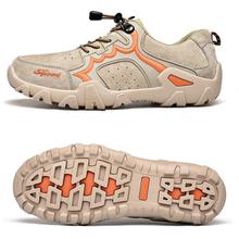 Новая мужская обувь из натуральной кожи для пеших прогулок на шнуровке, мужская спортивная обувь для улицы, беговые кроссовки для треккинга, нескользящая одежда, тактические ботинки для мужчин