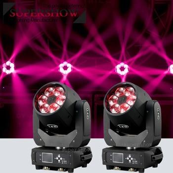 2pcs Bee Eye 6x40W Moving Head RGBW 4in1 LED Beam Effect Light Zoom Wash DMX Stage Disco Wedding Party DJ Club Fast Shipping