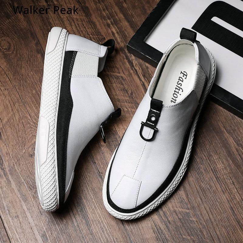 2019 Autumn New Men's Tenis Sneakers Black White Color Men Casual Shoes Fashion Comfortable Male Slip On Shoes Adult Walker Peak