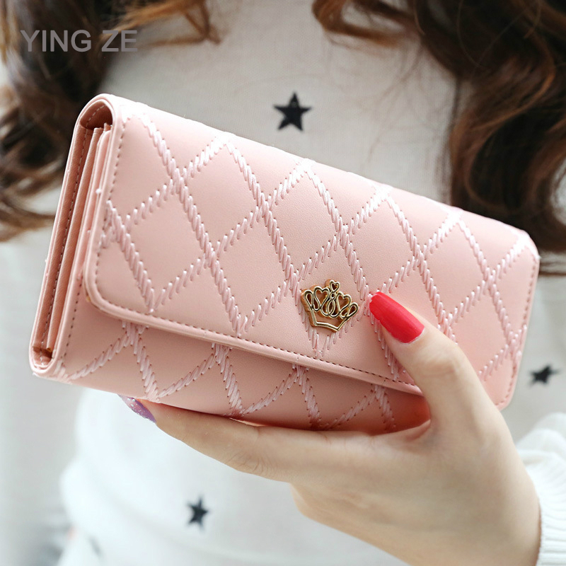 Luxury Brand Women Wallets Long Zipper Coin Purses Fashion Hasp Thread Wallet Design Clutch Female Money Bag Credit Card Holder