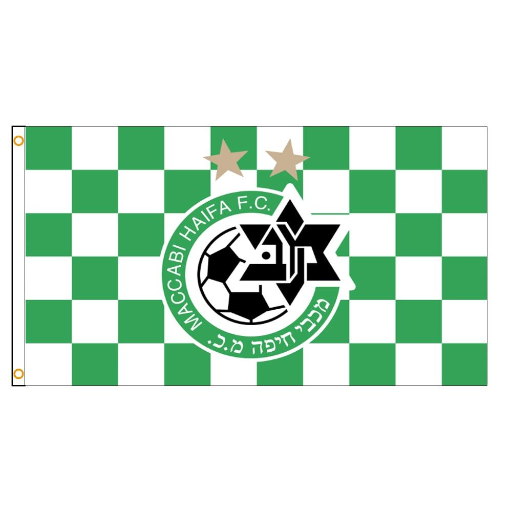 Израиль Maccabi Haifa флаг ФК, 90x150 см