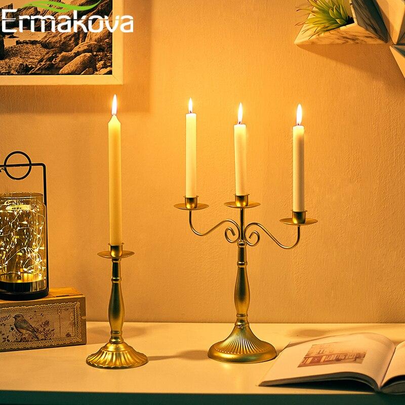Black Stem 32cm Crystal Taper Candle Holder// Candlestick
