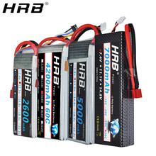 HRB Lipo Battery 2S 3S 4S 5000mah 1500mah 2600mah 2200mah 11.1V 7.4V 14.8V 6S 22.2V XT60 Deans T EC5 RC FPV Airplanes Car Parts