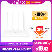 Xiaomi mi 4Aルータギガビット版2.4ghz + 5 1ghzの無線lan 16メガバイトのrom + 128メガバイトDDR3高利得4アンテナアプリ制御IPv6 xiaomiルータ