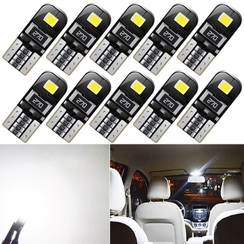10x T10 Led Canbus W5W Led Bulbs Car Interior Lights For BMW E46 E39 E90 E60 E36 F30 F10 E30 E34 X5 E53 M F20 X3 E87 E70 E92 X1 image