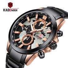KADEMAN Luxury Fashion Quartz Men Watch 3TAM Calendar Auto Date World Map Casual Business Wristwatch Male Relogio Masculino zhou lianfa fashion network world map lychee pattern gold quartz watch