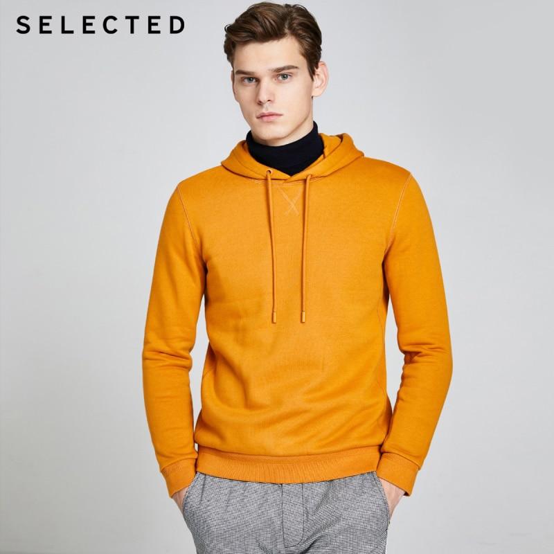 SELECTED Cotton Multi-color Sweatshirt Men's Casual Hooded Hoodies S|41944D514