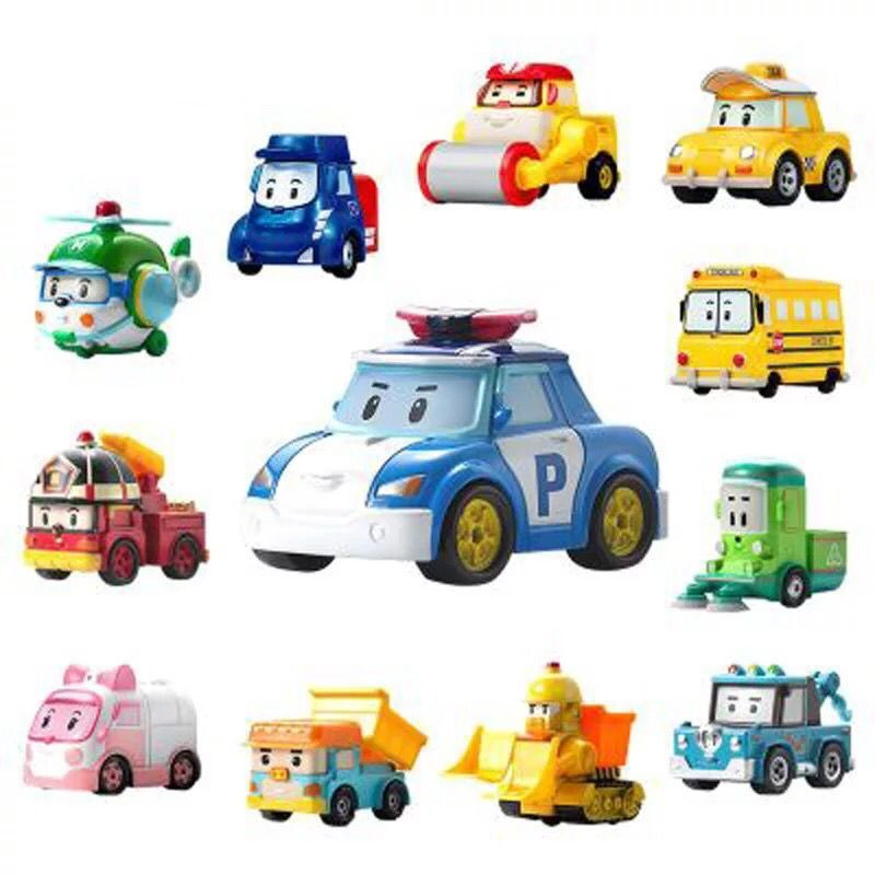 25 Style Robocar Poli Action Figures Kids Toys Robot Poli Roy Haley Anime Metal Action Figure Toy Car For Kids Birthday Gift