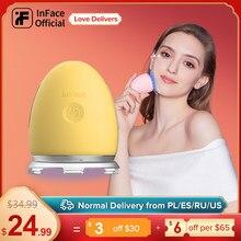 InFace cilt bakımı cihazı yüz bakımı aracı dokunsal titreşim masaj İyon kırışıklık giderici yüz mezoterapi özü makyaj çıkarıcı