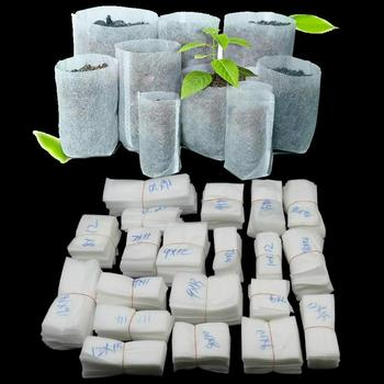 100Pcs Biodegradable Non-woven Nursery Bags Plant Grow Fabric cloth Raising Pots Seedlings flower Grow bags Planting Bags garden image