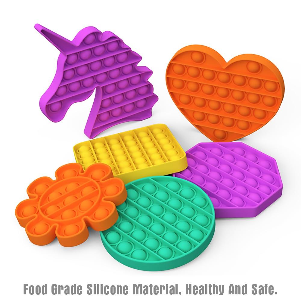 Sensory Toy Stress-Toys Reliver Pop Fidget Rainbow-Push Adult Children It img4