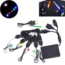 Building Blocks LED Lamps City Street Led Light USB Light-Emitting Classic Brick Compatible All Brands toys Mini Model Light