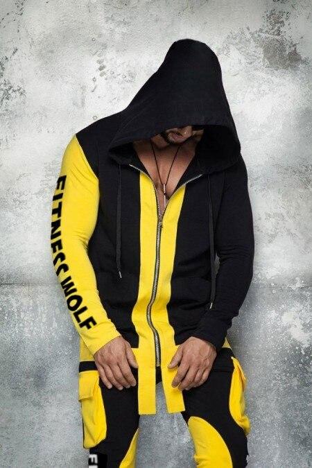 Ultimate DealøTrousers Bodysuit Men Tracksuit Mens Fitness 2pc-Sets Sports Cotton New Hip-Hop Contrast