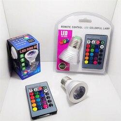 1 шт. E27 E14 GU10 MR16 RGB светодиодные точечные светильники Magic RGB Светодиодная лампа освещения с ИК-пультом дистанционного управления 16 цветов TTXB1