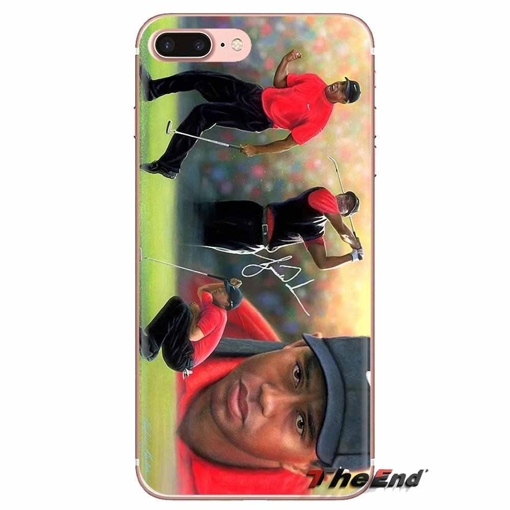 Eldrick Tiger Woods Golf Star para Xiaomi mi 6 mi 6 A1 Max mi x 2 5X 6X rojo mi nota 5 5A 4X 4A A4 4 3 Plus Pro casos de silicona cubre