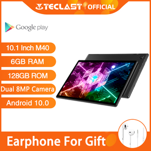 Newest Teclast M40 Tablets Android 10.0 Tablet PC 6GB RAM 128GB ROM 10.1 inch 8MP Dual Camera Dual 4G Phone Call Bluetooth 5.0