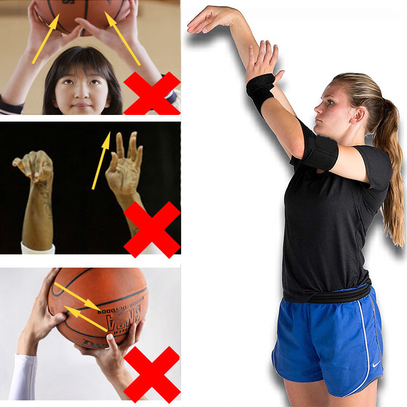 Basketball Shooting Training Auxiliary Strap Silicone Posture Correction Device Flexible Wristband Thumb Support Straps Wraps