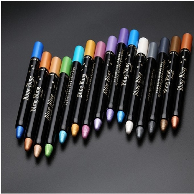 15 Color Highlighter Eyeshadow Pencil Waterproof Glitter Matte Nude Eye Shadow Makeup Pigment Cosmetics White Eye Liner Pen 4