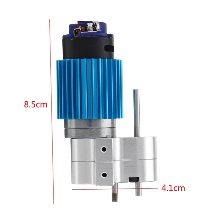 370 Brushed Motor With Alloy Heat Sink Gear Box Set For WPL Henglong C14 C24 B14 B24 B16 B36 4x4 6x6 Upgraded Parts R7RB