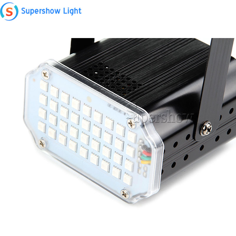 H85388da0189a47fd8b7886bd690c9a03U - 36 Led DJ Disco Strobe Light LED Flash Voice Music Stroboscope Stage Lighting Effect Party Show