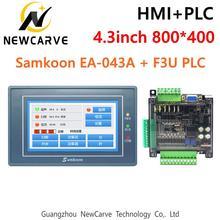 Samkoon EA-043A HMI Сенсорный экран 4,3 дюйма и F3U серии ПЛК промышленная плата управления с DB9 линия связи Newcarve