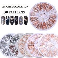 Разноцветные Стразы для ногтей, камни AB, цветные стразы, Необычные Бусины для маникюра, украшения для ногтей аксессуары с кристаллами