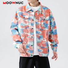 Coats Outerwear New Jackets Loose Hip Hop Printed Hat Men's Clothes Hombre Spring Dress Boys Kpop Fashion Casual MOOWNUC MWC