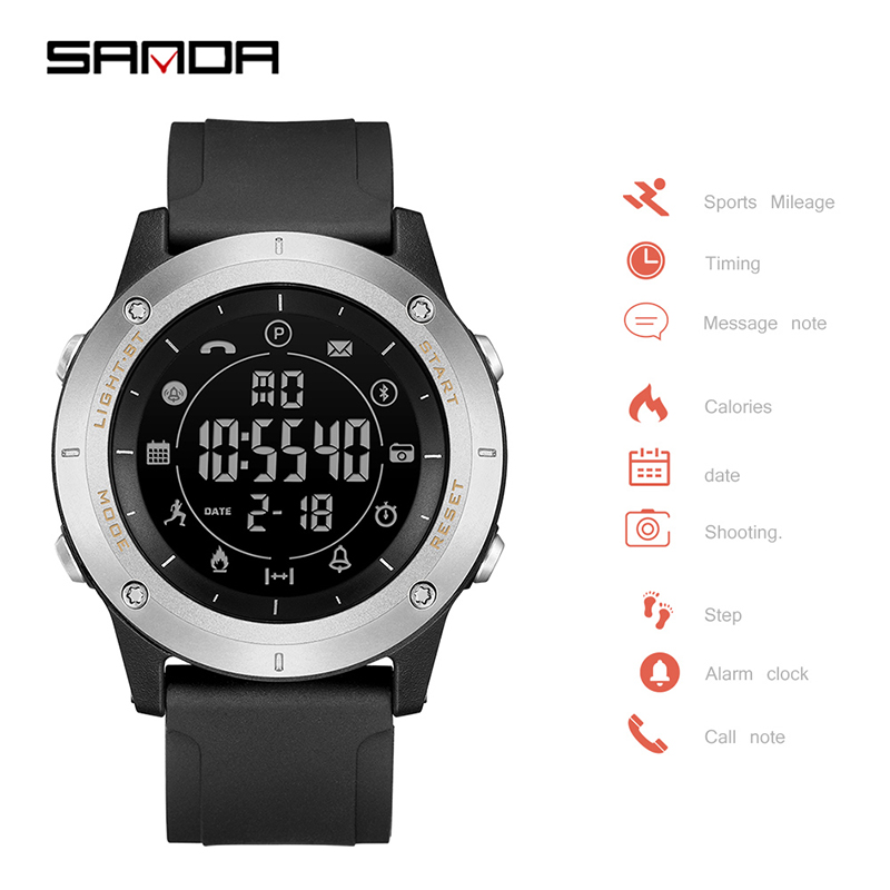 Smart-Wristwatches Luminous-Clock Dual-Display SANDA Sport Men Relogio Casual Masculino