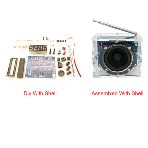 Image 5 - FM radyo pratik hoparlör elektronik kiti hediye 4.5V 5.5V Mini dijital şeffaf 8ohm ses DIY lehimleme Stereo ev alıcısı