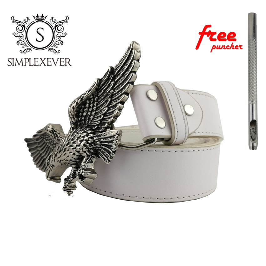 Flying Eagle Men's Belt Buckles With Leather Belt Silver Zinc Alloy Belt Buckle Suit For 3.8-4cm Belt