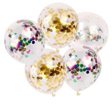 10pcs/lot party balloons 12inch round Sequin latex wedding decoration birthday supply Confetti Balloons