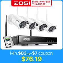 ZOSI 8CH CCTV Wireless Sistem H.265 + 1080P NVR 2CH/4CH 2MP IR-CUT Outdoor CCTV Kamera Keamanan IP sistem Video Surveillance Kit(China)