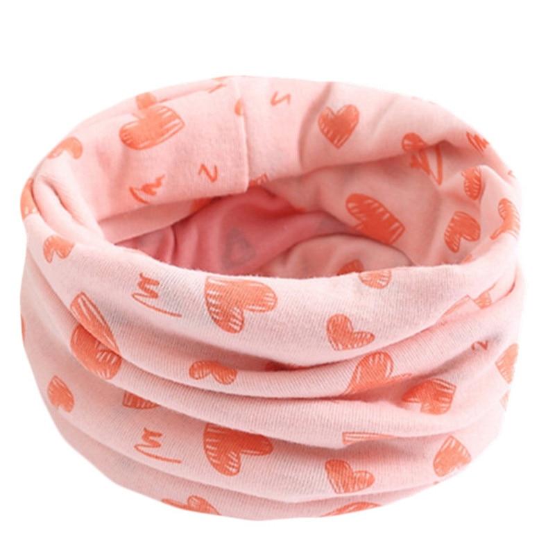 Весенний детский хлопковый шарф, теплый шарф для маленьких детей, осенне-зимние шарфы с героями мультфильмов для мальчиков и девочек, детский воротник с круглым вырезом, волшебный шейный платок - Цвет: 56