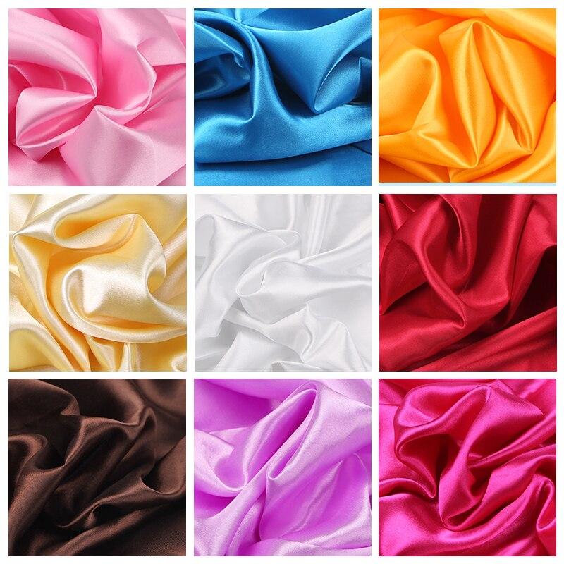 100cm * 150cm 16 couleurs soie et Satin tissu Satin couleur butyle soie cadeau doublure Lieb