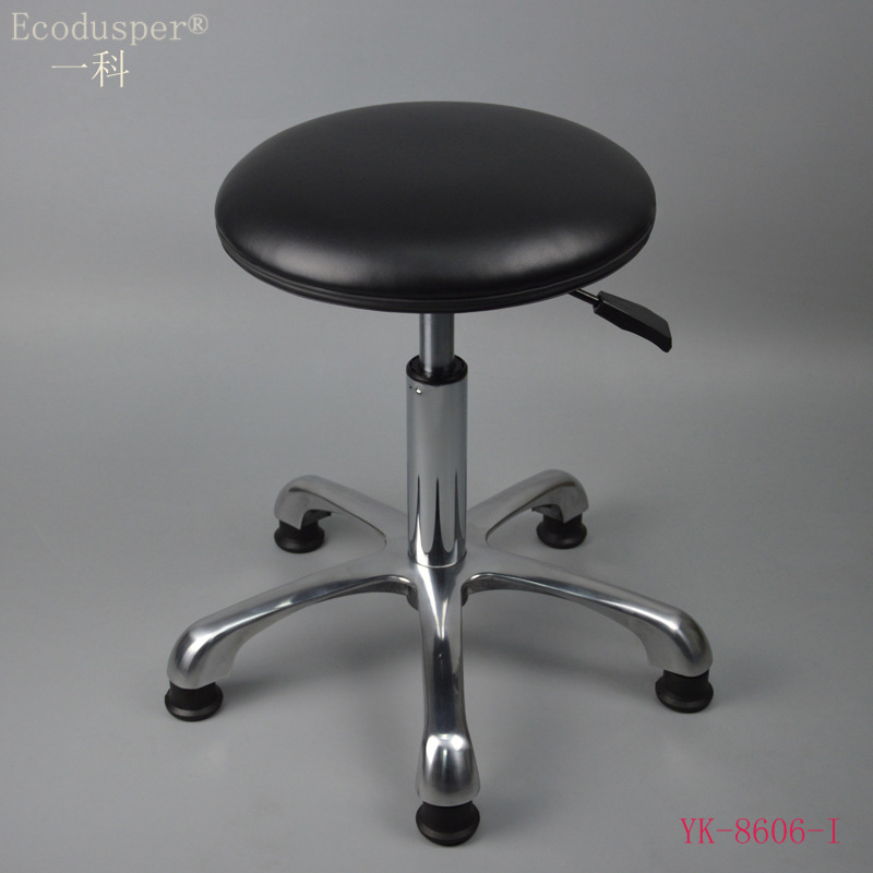 Anti-static Leather Height Adjustable Round Stool/Laboratory Clean Room Anti-static Stool Chair/Anti-static Industrial Chairs