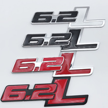 1pcs metal 6.2L Car displacement sign modified car stickers emblem Badge styling for Ford F150 SVT RAPTOR Auto Accessories