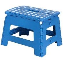 Foldable Step Stool for Kids Lightweight Plastic Design Blue