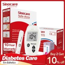 Глюкометр Sinocare Safe-Accu, комплект для измерения уровня глюкозы в крови, с 50 или 100 тест-полосками и ланцетами, медицинский прибор для диабетиков, соответствует требованиям ЕС