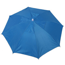 цена на Sky Blue Folding Umbrella Hat with Adjustable Headband