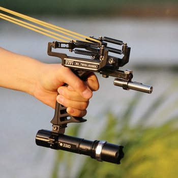 Outdoor Powerful laser Shotting Sling Shot Estilingue Profissional Hunting Archery Bow Slingshot Fishing Accessories Catapult