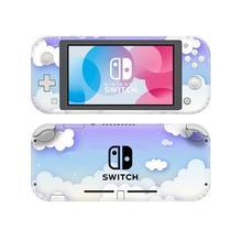 Couverture de décalcomanie dautocollant de peau de NintendoSwitch de nuage blanc pur pour le protecteur de Lite de commutateur de Nintendo Switch