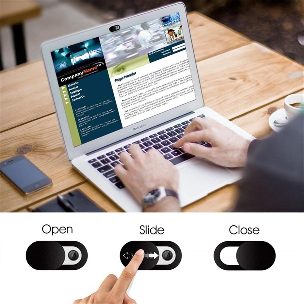 WebCam Cover Shutter Magnet Slider Universal Antispy Camera Cover For Web Laptop iPad PC Macbook Tablet lenses Privacy Sticker
