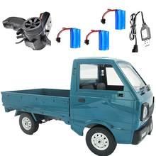 Rctown wpl d12 1/10 2wd rc carro simulação deriva caminhão escovado 260 motor de escalada led luz on-road veículo brinquedo para crianças presentes