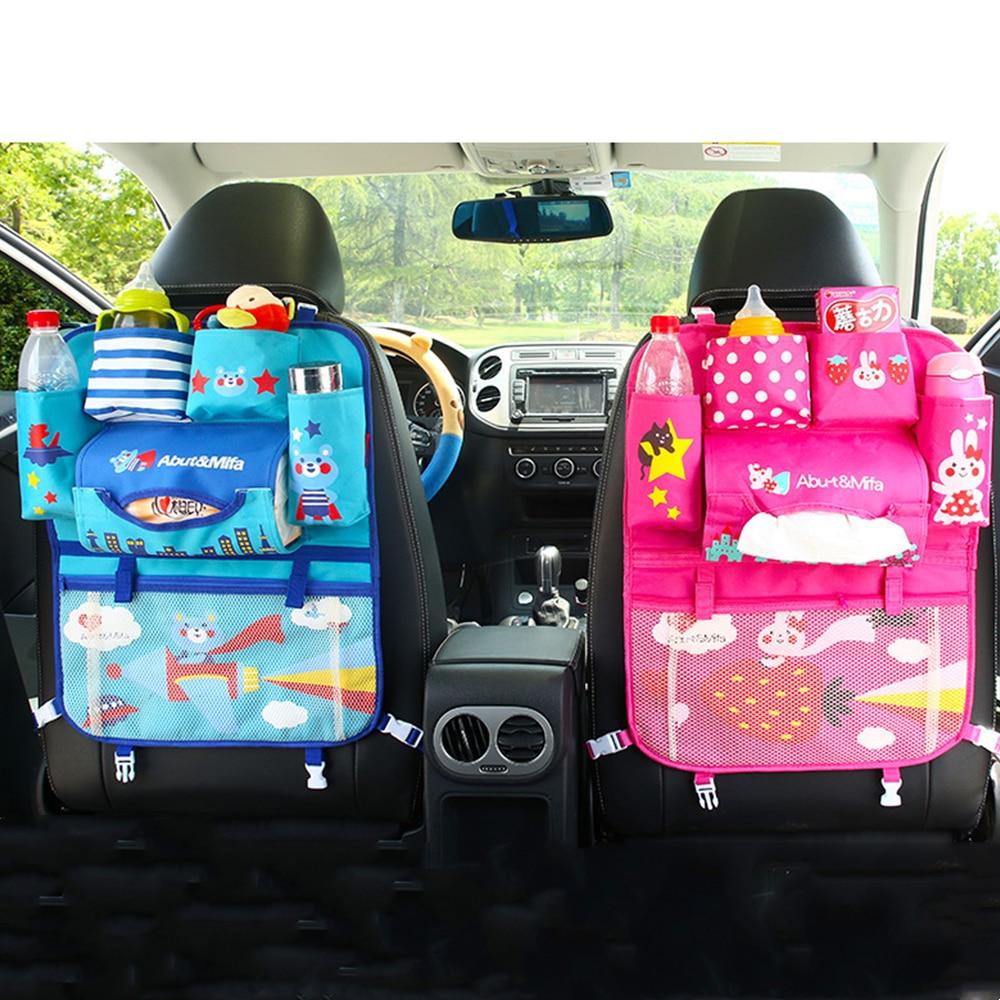 Мультяшный Органайзер на спинку сиденья автомобиля, сумка для хранения с несколькими карманами, держатель для планшета, аксессуары для инт...