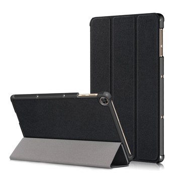 Tri-fold Tablet Case Shield Ipad Protective Sleeve Solid Leather and Protection Film Skin Glass Black for Sony Xperia Z3 Tablet image