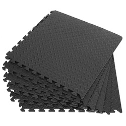 12PCS 30*30cm EVA Leaf Grain Floor Mats Gym Floor Mat Splicing Mats Patchwork Rugs Thicken Shock For Gym Fitness Room Workouts