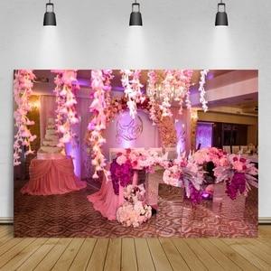 Image 4 - Laeacco خلفية للتصوير الفوتوغرافي لأزهار الحائط ، خلفية للتصوير الفوتوغرافي لحفلات الزفاف ، وحفلات استقبال المولود الجديد ، واستوديو الصور