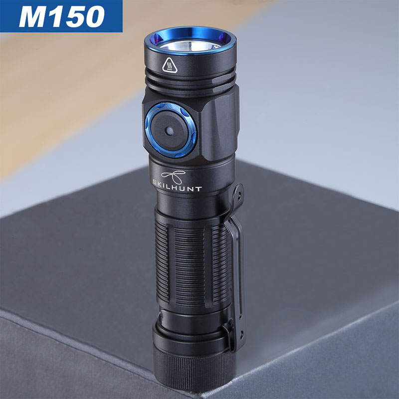 NEW SKILHUNT M150 14500/AA Battery Charged ,USB Magnetic Charging Flashlight,Mini Bright EDC Torch
