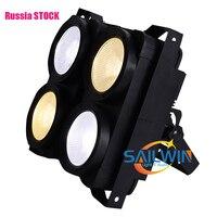 RUSSIA STOCK 4*100W 2in1 COB LED Blinder WarmWhite Audience 4 EYES LED Blinder Light Stage Light Studio Theater DJ Lighting